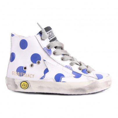 Golden Goose Deluxe Brand Francy Polka Dot Zip-Up Sneakers-listing