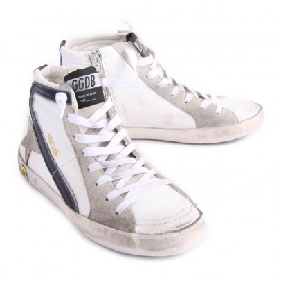 Golden Goose Deluxe Brand Slide Zip-Up High Top Sneakers-listing