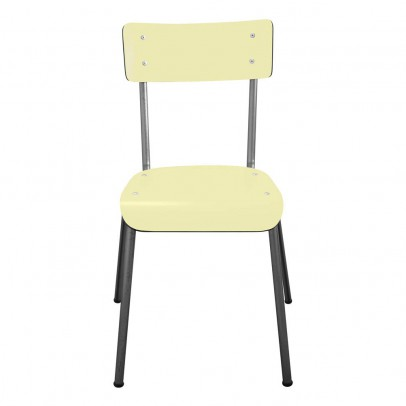 Les Gambettes Chair for grown-ups Suzie with natural legs - Pale yellow   -listing