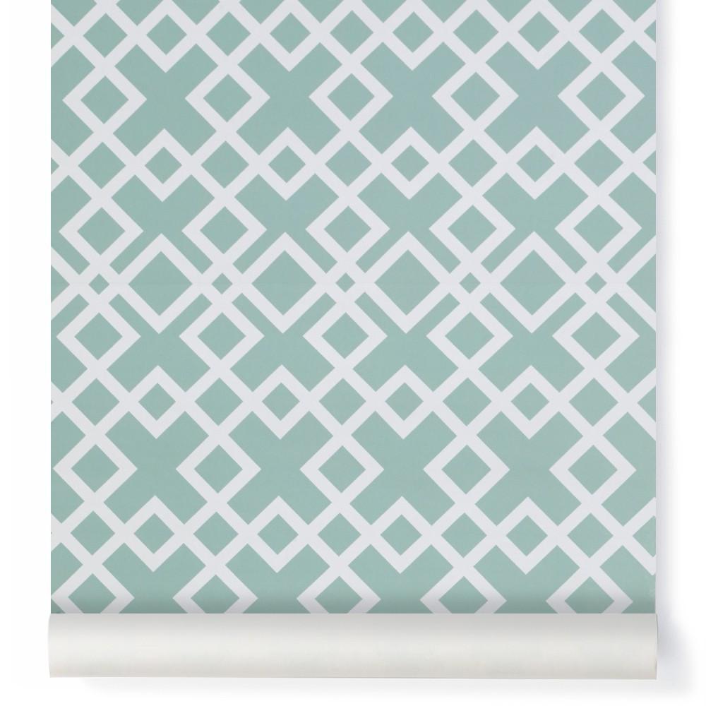 papier peint grafic 10x53 cm vert amande les gambettes design. Black Bedroom Furniture Sets. Home Design Ideas