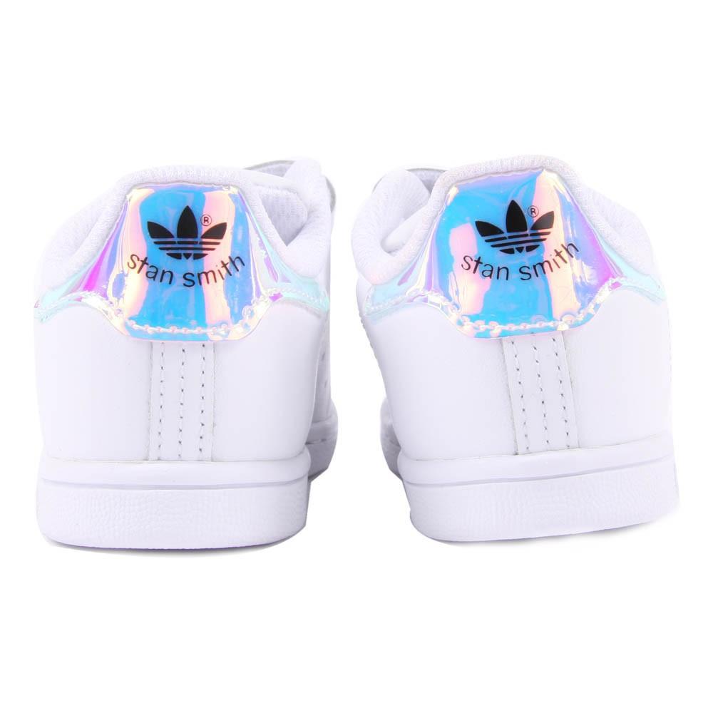 Iridescente Stan Smith Scarpe da Ginnastica Col Velcro Bianco Le Adidas Bambini