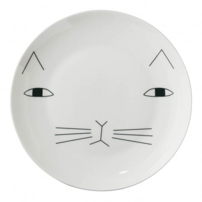 Assiette en céramique chat