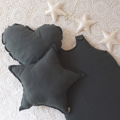 Numero 74 Star cushion -Dark grey-listing