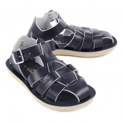 Salt-Water Shark Leather Waterproof Sandals-listing
