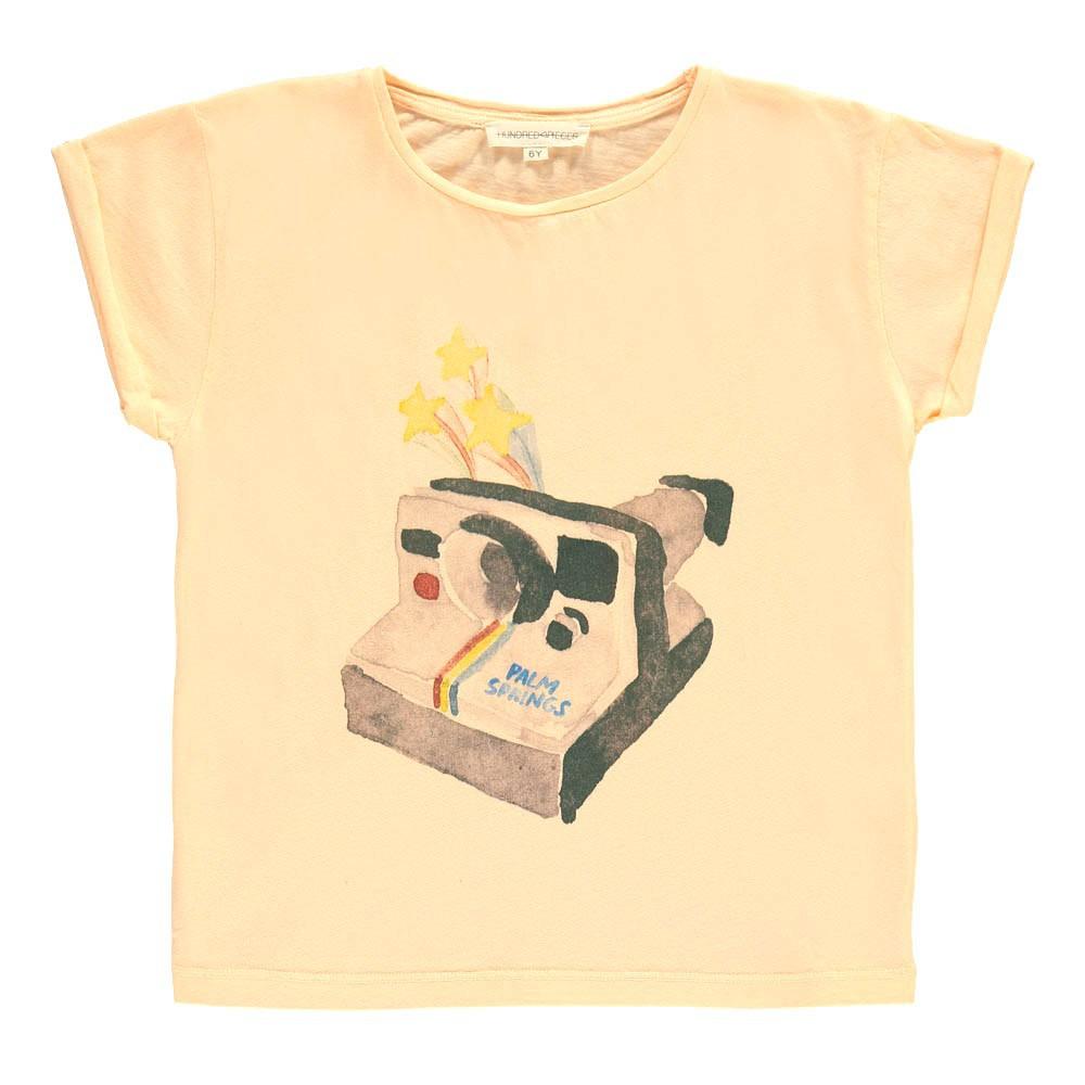 85ef7ab526 Camiseta Polaroid Rosa Melocotón Hundred Pieces Moda Joven ,