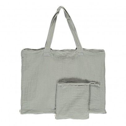 Numero 74 Cotton shopping bag and envelope - Gray-listing