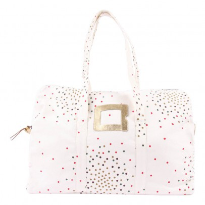 Polder Girl Sac Weekend 48H - Ecru - pois multicolores-listing