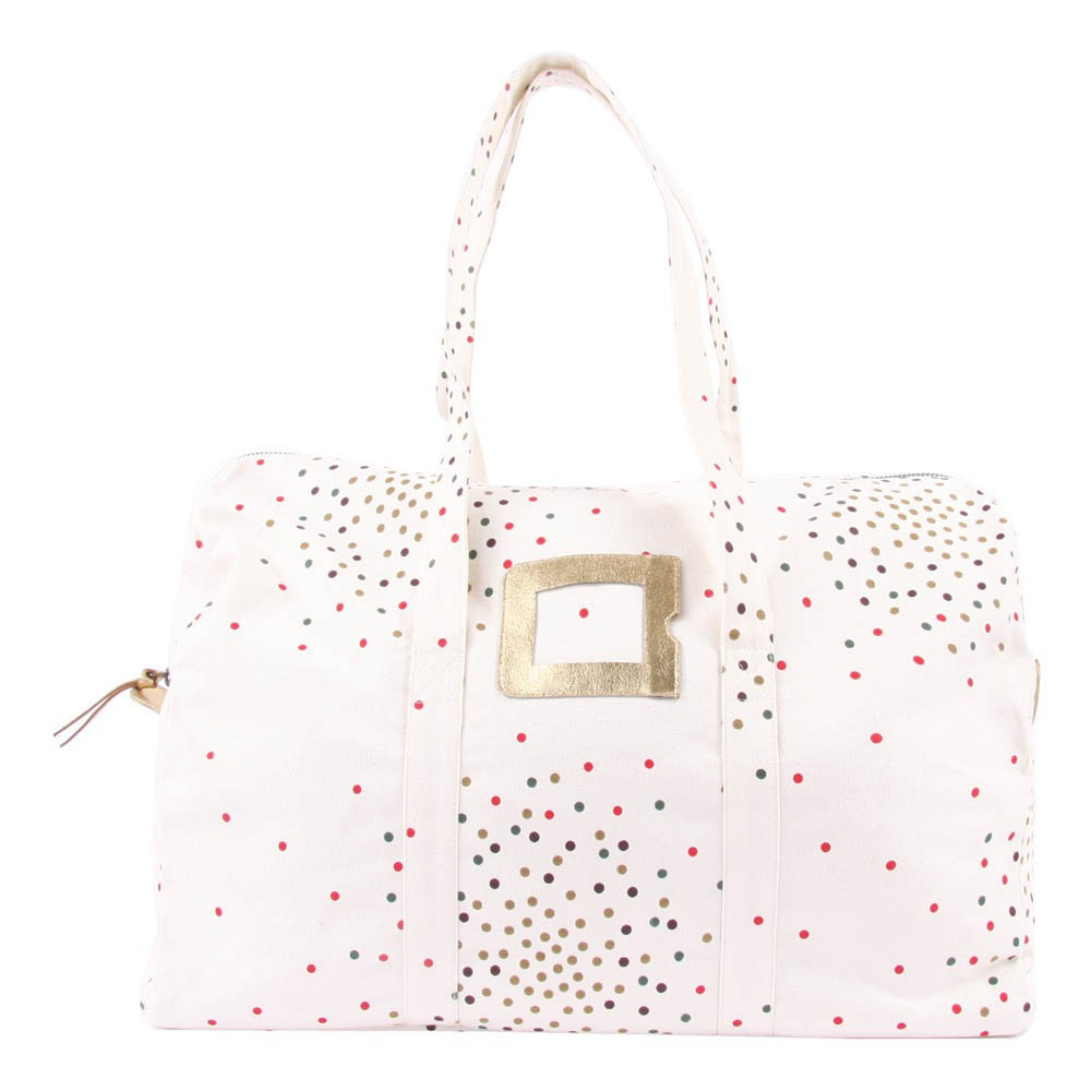Sac Weekend 48H Confettis - Ecru - pois multicolores-product
