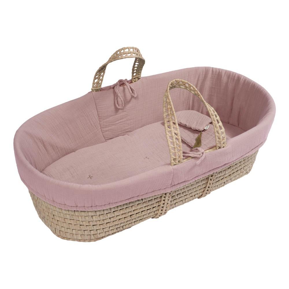 bassinet mattress and linen vintage pinkproduct