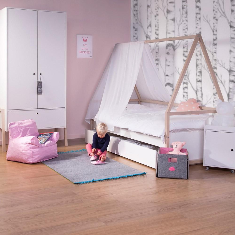 Cabane de lit 90x200 cm naturel childwood design enfant - Cabane de lit ...