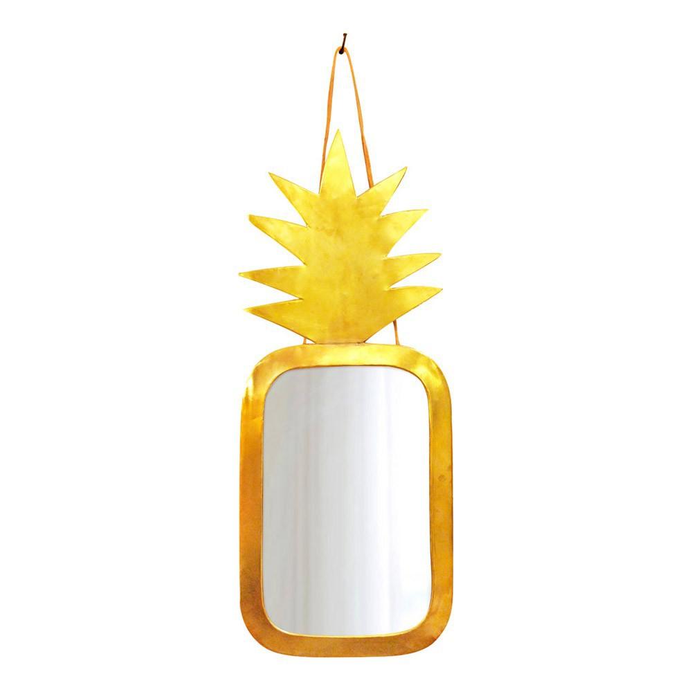 Miroir ananas en laiton 30x20 cm Doré Honoré Design Adulte