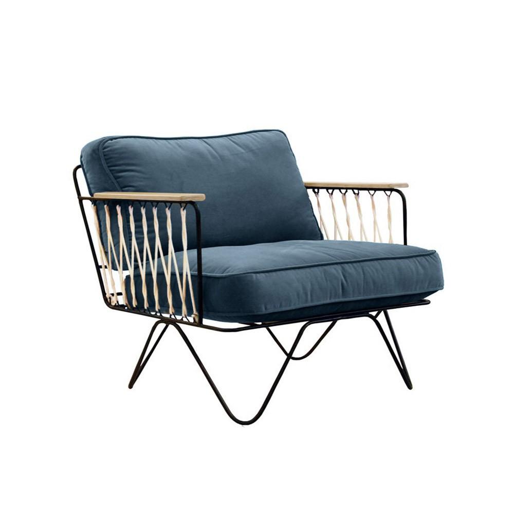 Black Velvet Sofa Midnight blue Honor Design Children