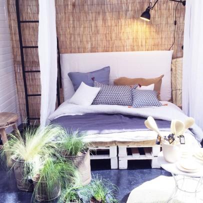 t te de lit cabane naturel blomkal design enfant. Black Bedroom Furniture Sets. Home Design Ideas