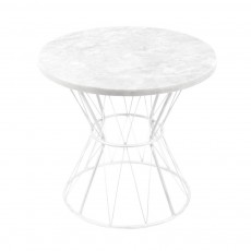 product-Honoré Tamtam White Marble Feet Table