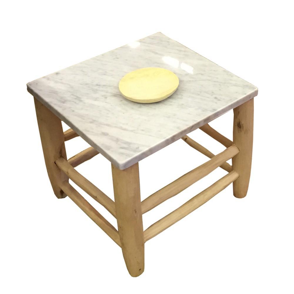 table beldi bois et marbre blanc honor design enfant. Black Bedroom Furniture Sets. Home Design Ideas