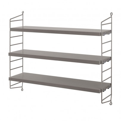 String Furniture 'Pocket' shelf unit - grey-listing