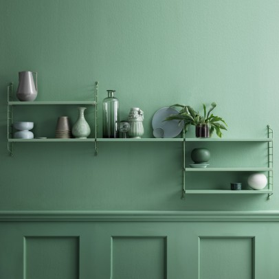 String Furniture Pocket shelf unit - almond green-listing