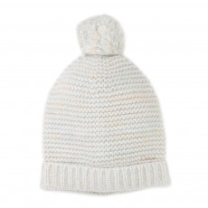product-Chloé Garter Stitch Beanie with Pompom