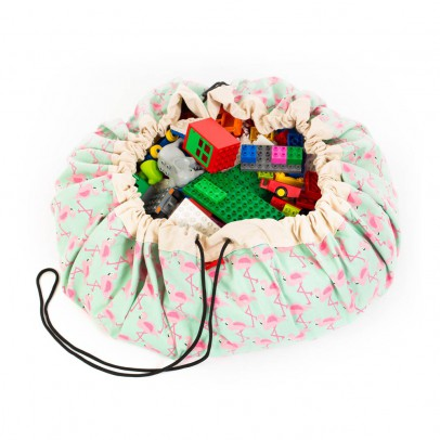 Play and Go Spielzeugsack und -decke – rosa Flamingo-listing