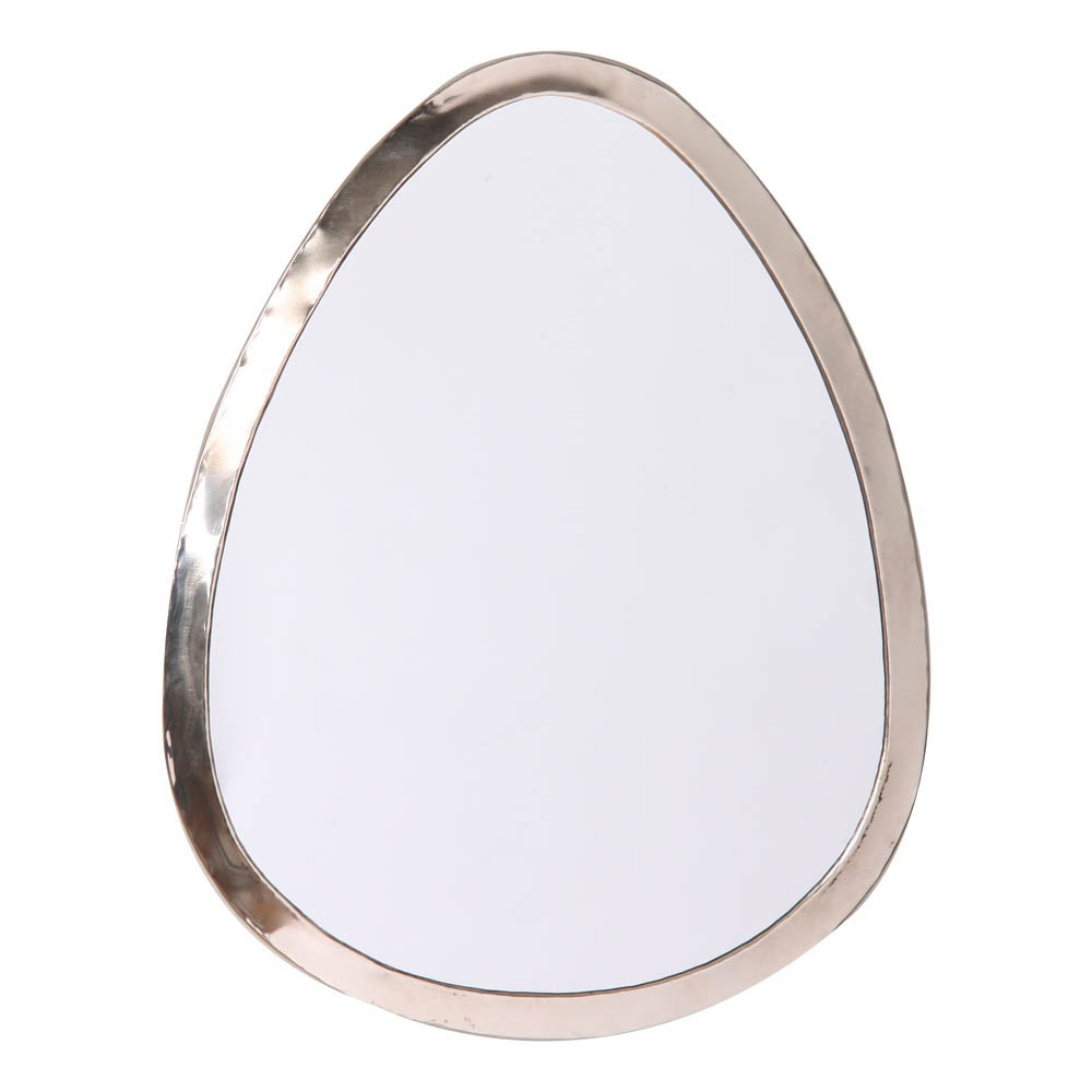 40x30 cm Egg-Shaped Nickel Silver Mirror-product