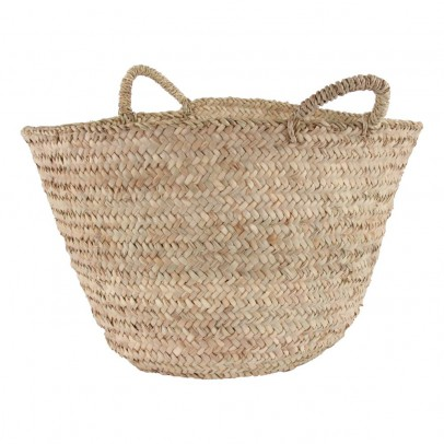 Smallable Home Woven Palm Leaf Basket-listing