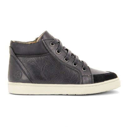 10 IS Leather Lace-Up Zip-Up Ten Base Trainers-listing