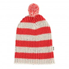 product-Kidscase Striped Nat Beanie with Pompom