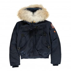 product-Parajumpers Faux Fur Hooded Gobi Boy Bomber Jacket