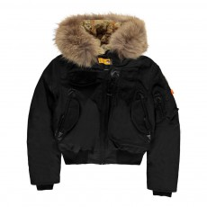 product-Parajumpers Faux Fur Hooded Gobi Girl Bomber Jacket