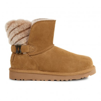 Ugg Analia Lined Suede Ankle Boots with Buckle-listing