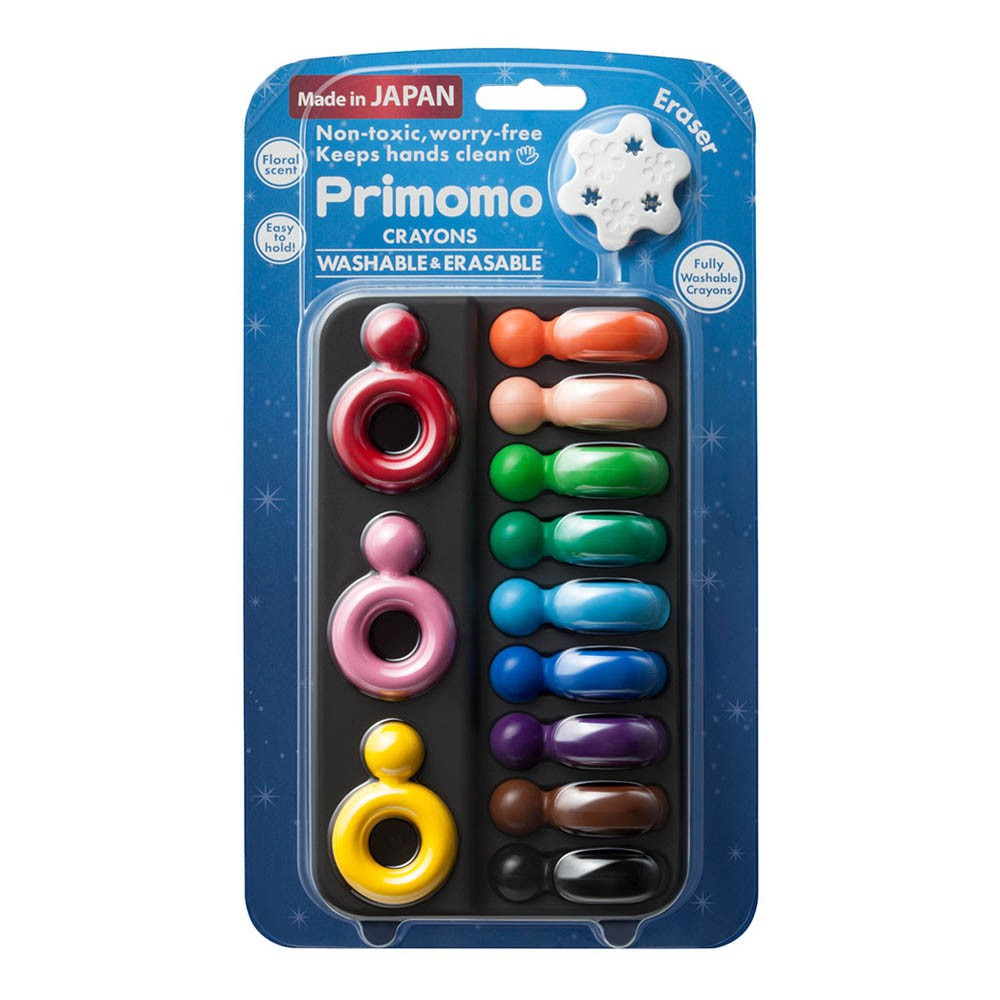 Crayon Rings Washable Crayon Rings Set Of 12 Multicoloured Primomo Toys And