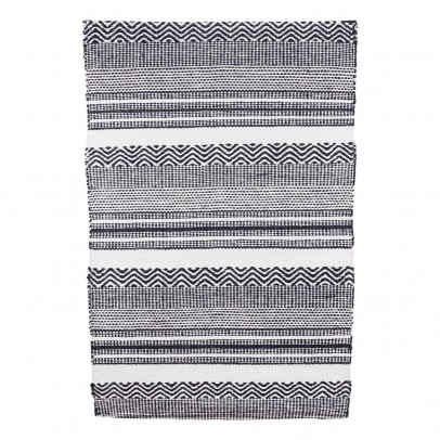 House Doctor Black and White Inca Rug-listing
