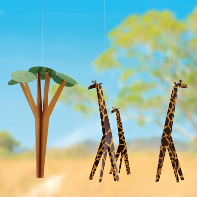 Flensted Mobile girafes dans la savane-listing