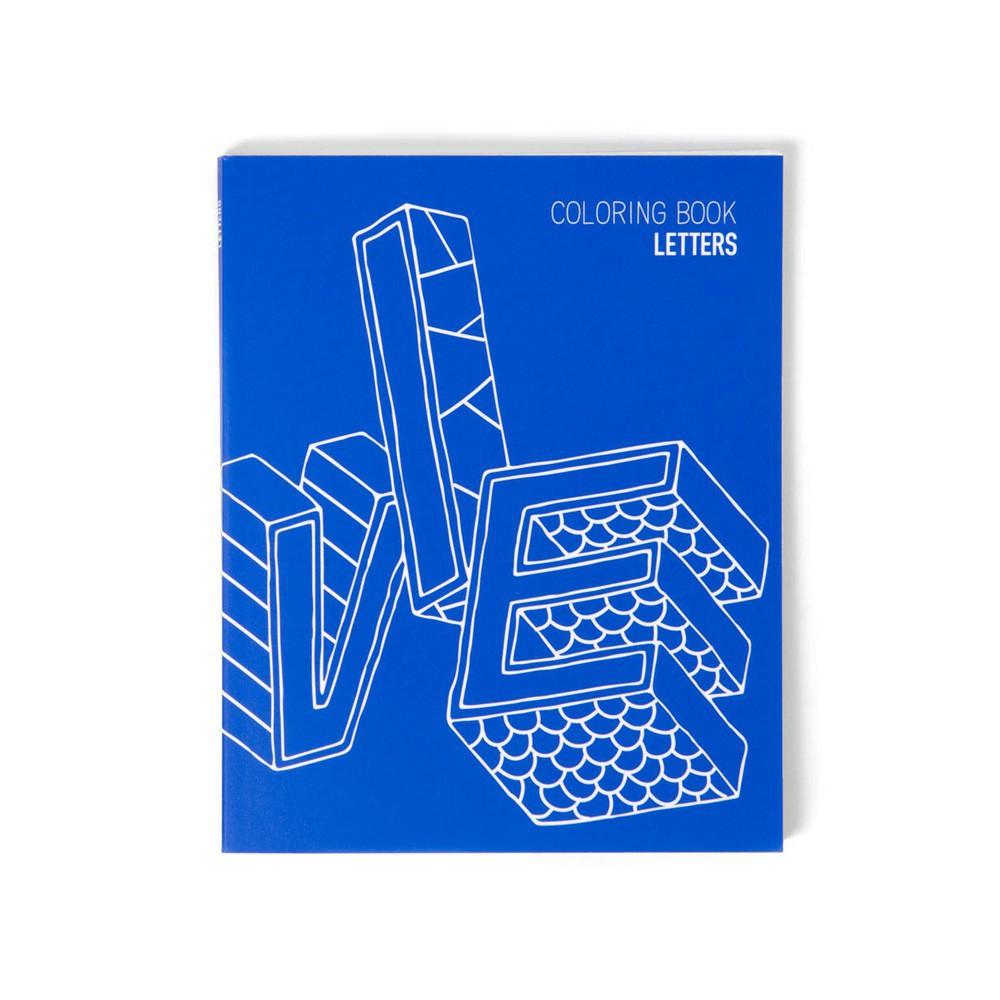 Libreta para colorear - Letras Azul Omy Design Joven , Infantil