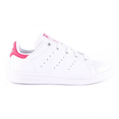 Adidas Leather Elastic Lace Stan Smith Pink Trainers-listing