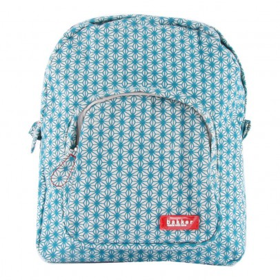 Bakker made with love Turquoise Canvas Mini Backpack-listing