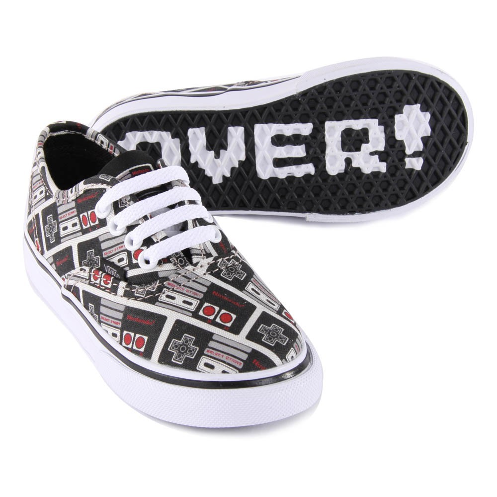 vans x nintendo. vans x nintendo - authentic black console trainers-product
