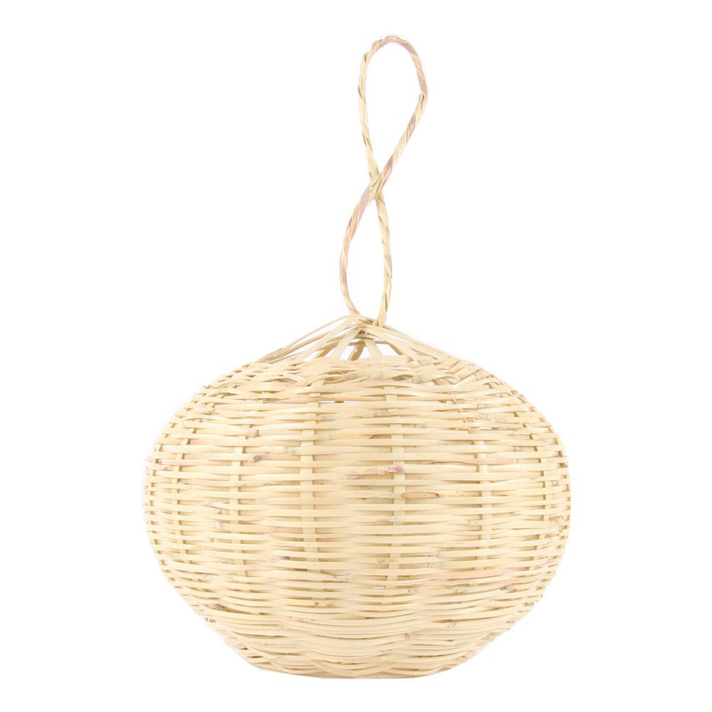 Suspension boule en osier 20 cm naturel smallable home design for Suspension osier design