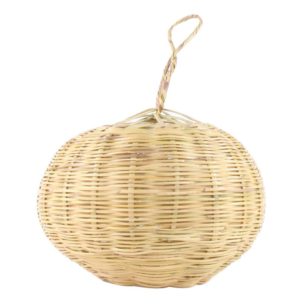 Suspension boule en osier 30 cm naturel smallable home design for Suspension osier design