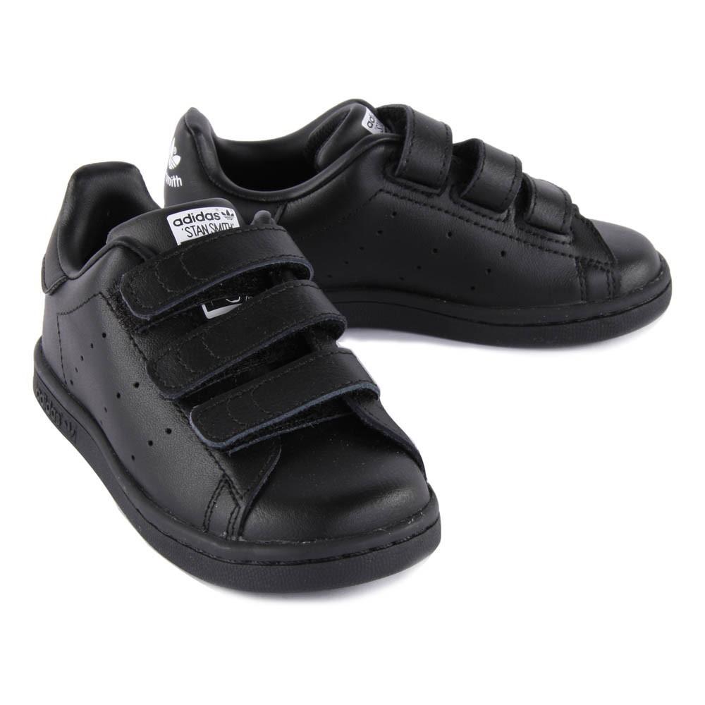 new style 981de 98592 adidas stan smith velcro black