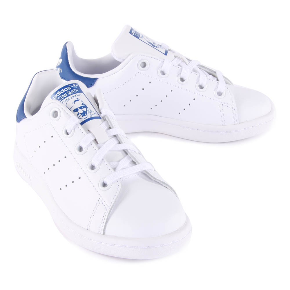Leather Elastic Lace Stan Smith Blue Trainers-product