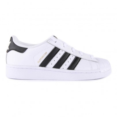 Adidas Leather Elastic Lace Superstar Black Trainers-listing