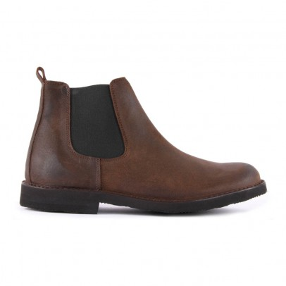 Gallucci Leather Zip-Up Chelsea Boots-listing