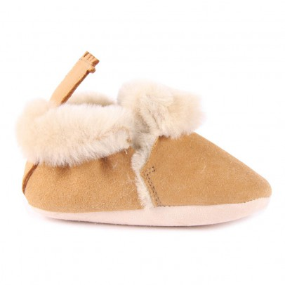Easy Peasy Minions Sheepskin Suede Slippers-listing