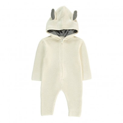 Stella McCartney Kids Acorn Rabbit Knit Jumpsuit-listing