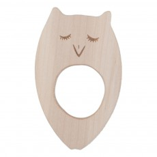 product-Wooden Story Owl Wooden Teething Ring