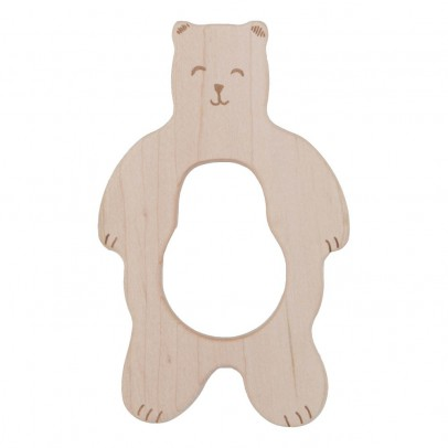 Wooden Story Bear Wooden Teething Ring-listing