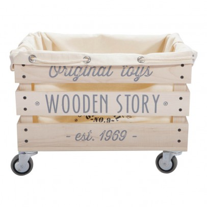Wooden Story Slatted Wooden Trolley Bag-listing