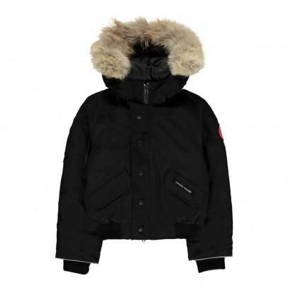 canada goose black 'rundle' bomber jacket