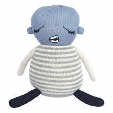 product-Lucky Boy Sunday Doudou Baby boy en alpaga 30 cm